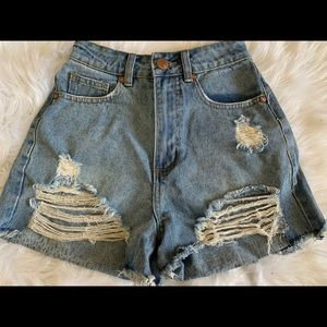 Cotton On Denim Cut Off Shorts